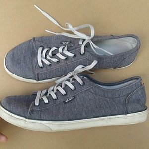 Vans Gray Lace Up Sneakers Gray